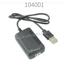 1374 7.4V USB Charger Parts For WLTOYS 104001