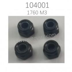 1670 M3 Locknut Parts For WLTOYS 104001 RC Car
