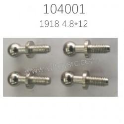 1918 Ball Head Screw Parts For WLTOYS 104001 RC Car