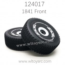 1841 Front Tire Assembly For WLTOYS 124017