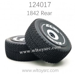 1842 Rear Tire Assembly For WLTOYS 124017