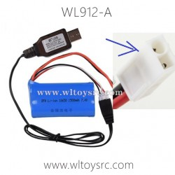 WLTOYS WL912-A Parts, 7.4V Battery and USB Charger