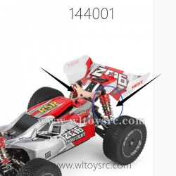 WLTOYS 144001 RC Car Parts, Rear Shock Absobers