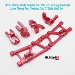 Wltoys K949 10428A B C 1/10 Rc Car Upgrade Parts Lower Swing Arm Steering Cup C Style Seat Set