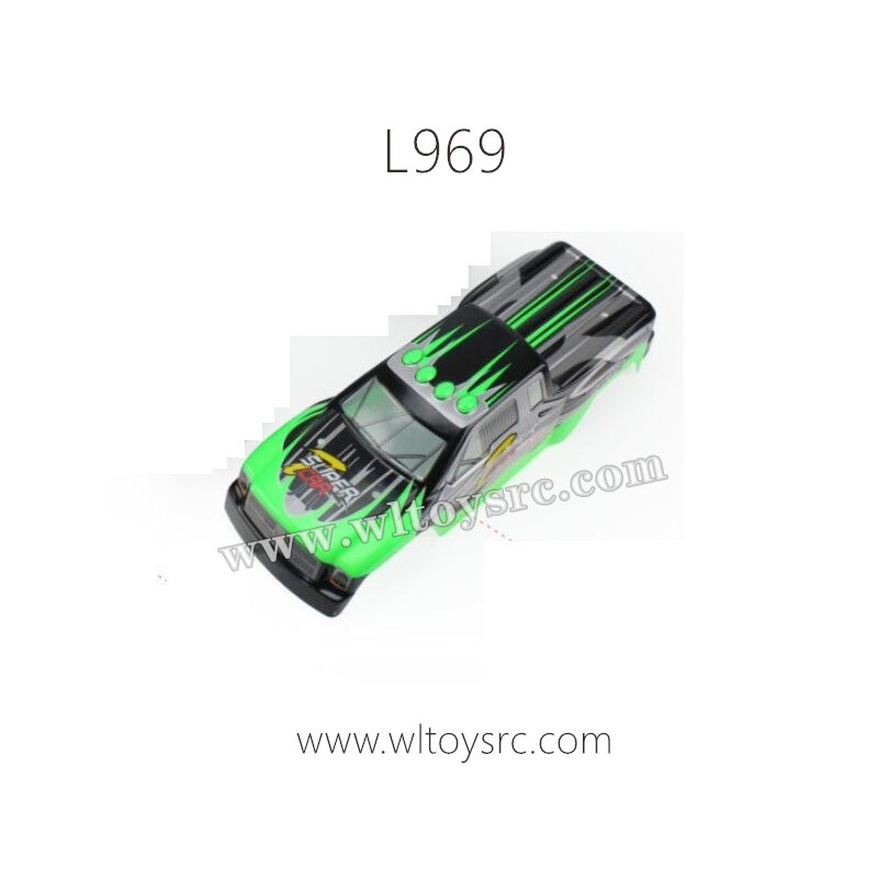 WLTOYS L969 Terminator Parts-Car Shell Green