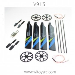 WLTOYS V911S RC Helicopter Parts-Big Gear+Propellers