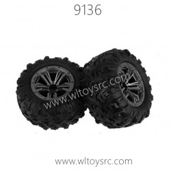 XINLEHONG 9136 1/18 RC Truck Parts-Tire Assembly