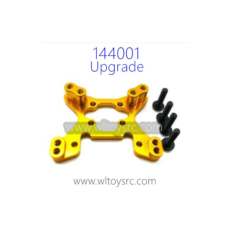 WLTOYS 144001 1/14 Upgrade Metal Parts, Front Shock Frame Yellow