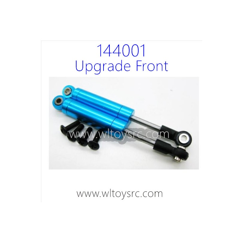 WLTOYS 144001 1/14 RC Car Upgrade Parts, Front Shock Absorbers Blue