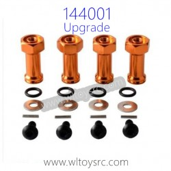 WLTOYS 144001 Upgrade Parts, Extended Adapter set 24MM  Red