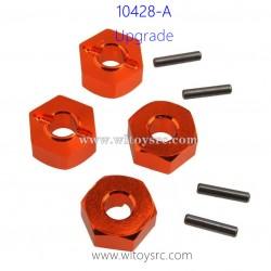 WLTOYS 10428-A Upgrade Parts-Hexagonal wheel seat Orange
