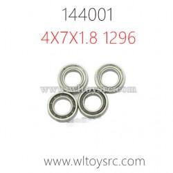 WLTOYS 144001 Parts, Rolling Bear 4X7X1.8 1296