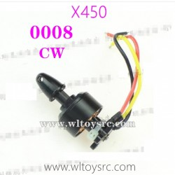 WLTOYS XK X450 Parts-Rear CW Motor 0008