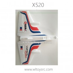 WLTOYS XK X520 Fighter RC Plane Parts-Main Body Kit