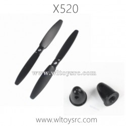 WLTOYS XK X520 Fighter RC Drone Parts-Propellers and Caps