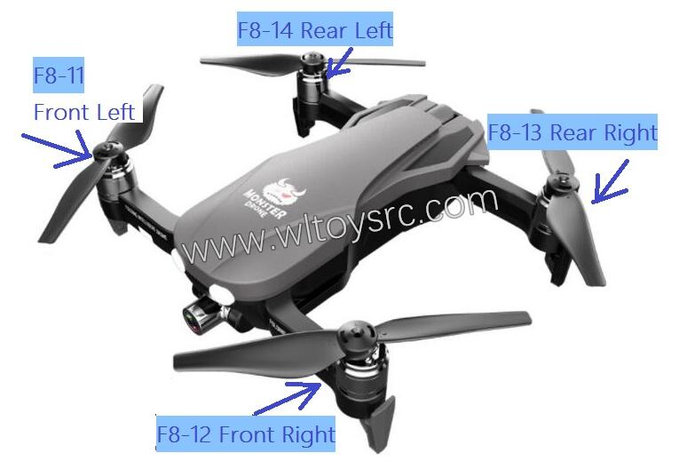 FQ777 F8 RC Drone Parts